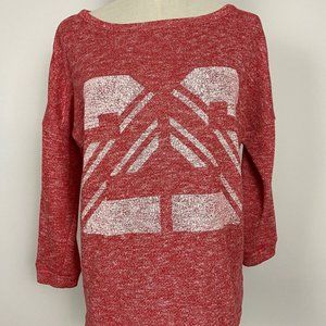 Seed Heritage Womens Red Relaxed Sweater Size S